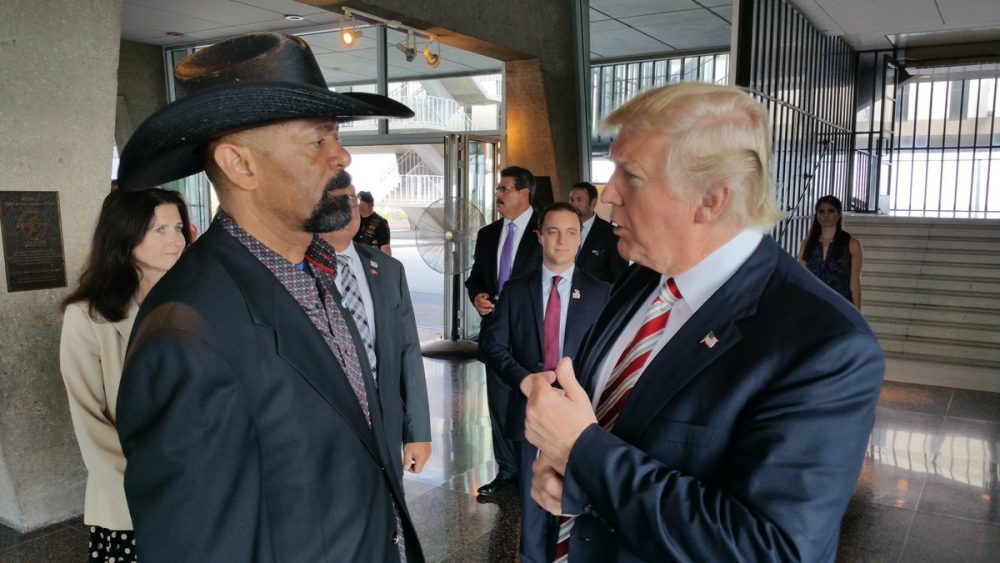 David Clarke with Donald Trump (image from Clarke's Twitter)