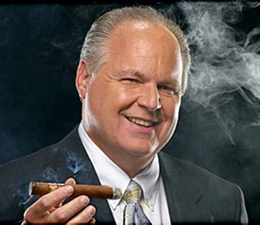 Rush Limbaugh smoking a cigar announces lung cancer diagnosis