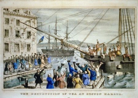 Civil Disobedience during Boston Tea Party