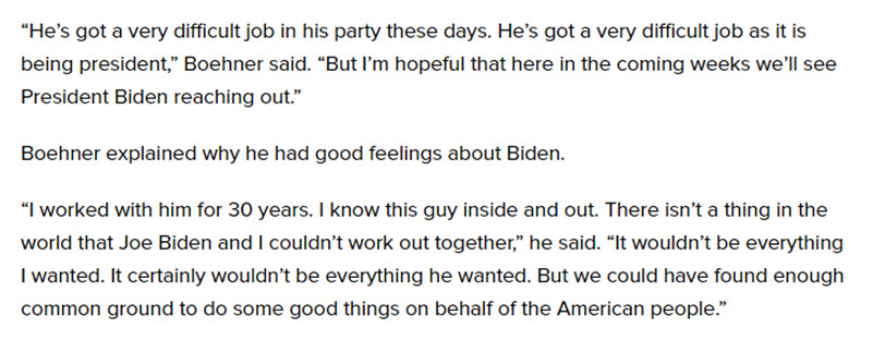 Meghan McCain John Boehner The View Interview Biden Obama
